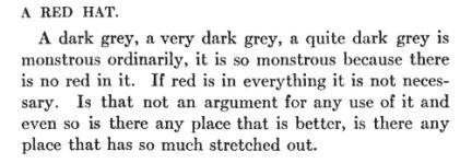 An excerpt from Tender Buttons